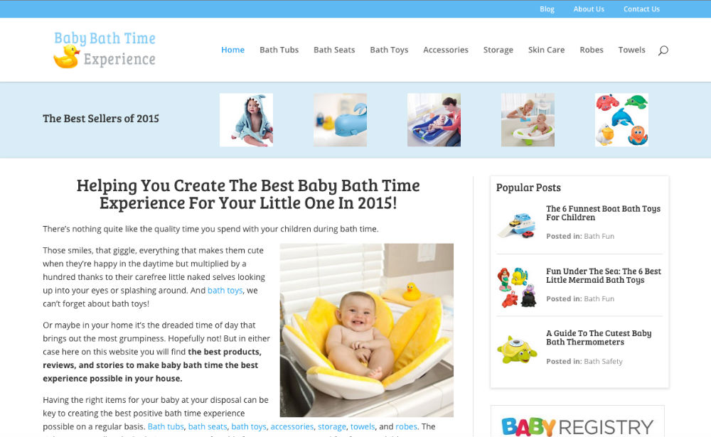 Baby Bath Time Experience