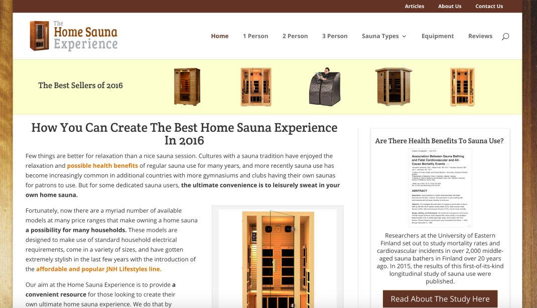 Home Sauna Experience